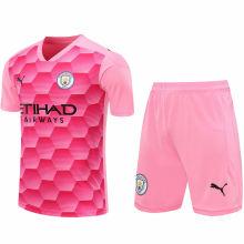 2020/21 Man City Pink GK Soccer Jersey(A Set)