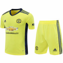 2020/21 M Utd Yellow GK Soccer Jersey(A Set)