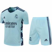 2020/21 RM Light Blue GK Soccer Jersey(A Set)