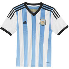 2014 Argentina Home Retro Plaey Version Soccer Jersey