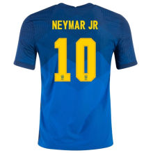 NEYMAR JR #10 Brazil Away 1:1 Blue Fans Soccer Jersey 2020/21