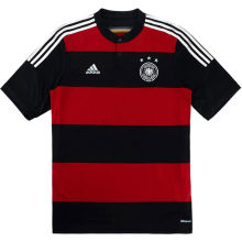 2014 Germany Away Balck And Red Retro Player Version Soccer Jersey