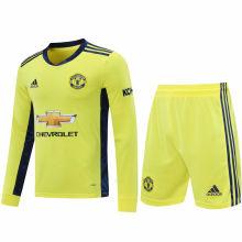 2020/21 M Utd Yellow GK Long Sleeve Soccer Jersey(A Set)