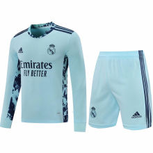 2020/21 RM Light Blue GK Long Sleeve Soccer Jersey(A Set)