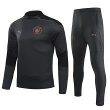 2020/21 M City Black Right zipper Sweater Tracksuit右侧拉链