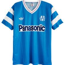 1990/91 Marseille Away Blue Retro Soccer Jersey
