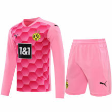 2020/21 BVB Pink GK Long Sleeve Soccer Jersey(A Set)
