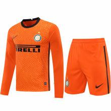 2020/21 In Milan Orange GK Long Sleeve Soccer Jersey(A Set)