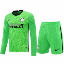 2020/21 In Milan Green GK Long Sleeve Soccer Jersey(A Set)
