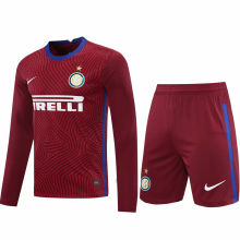 2020/21 In Milan Red GK Long Sleeve Soccer Jersey(A Set)