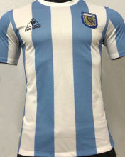 1986 Argentina Home Retro Player Version Soccer Jersey球员无号版