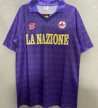 1989/90 Fiorentina Home Retro Soccer Jersey
