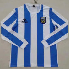 1986 Argentina Home Retro Long Sleeve Soccer Jersey