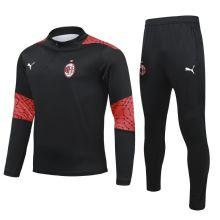 2020/21 AC Milan Black Sweater Tracksuit