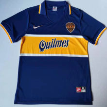 1997 Boca Home Blue Retro Soccer Jersey