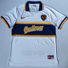 1997 Boca Away White Retro Soccer Jersey