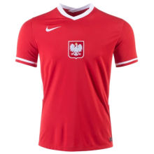 2021 Poland 1:1 Quality Home Red Fans Soccer Jersey