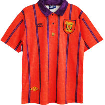 1994 Scotland Away Red Retro Soccer Jersey