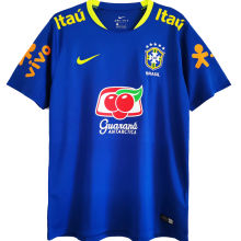 2021 Brazil Away Blue Training Soccer Jersey