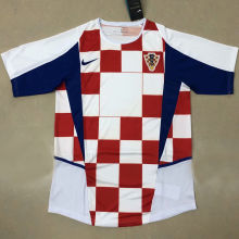 2002 Croatia Home Red And White Retro Soccer Jersey