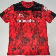 2020/21 Toluca Home Red Fans Soccer Jersey