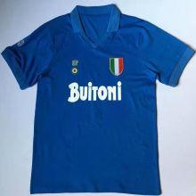 1987-88 Napoli Home Blue Retro Soccer Jersey