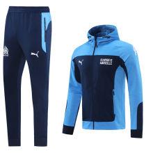 2020/21 Marseille Blue Hoodie Jacket Tracksuit