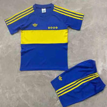1981 Boca Home Retro Kids Soccer Jersey