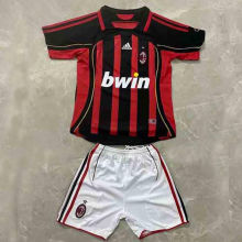 2006/2007 AC Home Retro Kids Soccer Jersey