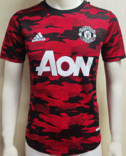 2021 M Utd Home Red And Black Player Jersey