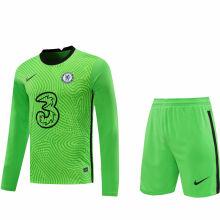 2020/21 CFC Green GK Long Sleeve Soccer Jersey(A Set)