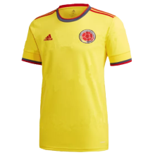 2021 Colombia 1:1 Quality Home Yellow Fans Soccer Jersey