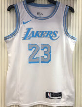 2021 LA Lakers JAMES #23 Limited Edition White NBA Jerseys Hot Pressed