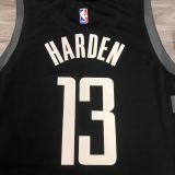 2021 Rockets Jordan HARDEN  #13 City Edition Black NBA Jerseys Hot Pressed