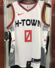 2021 Rockets WESTBROOK  #0 City Edition White NBA Jerseys Hot Pressed