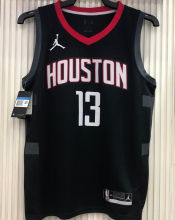 2021 Rockets Jordan HARDEN  #13 City Edition Black NBA Jerseys Hot Pressed