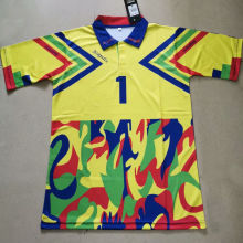 J Campos #1 Yellow Retro Soccer Jersey(Have Name And Number 有名有号)黄色