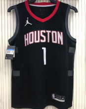 2021 Rockets Jordan McGrady#1 City Edition Black NBA Jerseys Hot Pressed