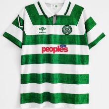 1991/92 Celtic Home Green Retro Soccer Jersey