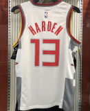 2021 Rockets HARDEN  #13 City Edition White NBA Jerseys Hot Pressed