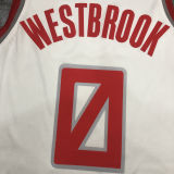 2021 Rockets WESTBROOK  #0 City Edition White NBA Jerseys Hot Pressed