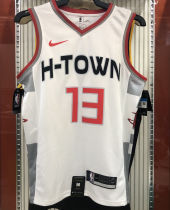 2021 Rockets HARDEN  #13 City Edition White NBA Jerseys Hot Pressed