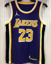 2021 LA Lakers Jordan James #23 Purple NBA Jerseys Hot Pressed