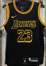 LA Lakers James #23 Black Snake NBA Jerseys Hot Pressed