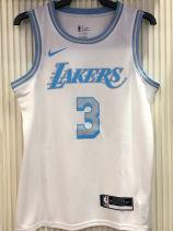 2021 LA Lakers DAVIS #3 Limited Edition White NBA Jerseys Hot Pressed