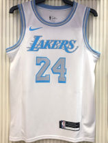 2021 LA Lakers Bryant #24 Limited Edition White NBA Jerseys Hot Pressed