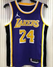 2021 LA Lakers Jordan Bryant #24 Purple NBA Jerseys Hot Pressed