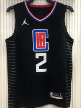 2021 Clippers Jordan LEONARD #2 City Edition Black NBA Jerseys Hot Pressed