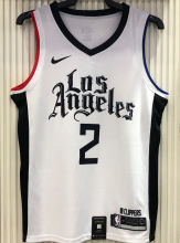 2021 Clippers LEONARD #2 White NBA Jerseys Hot Pressed
