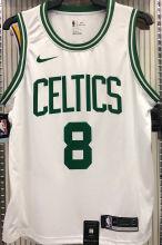 Celtics WALKER #8 White NBA Jerseys Hot Pressed
